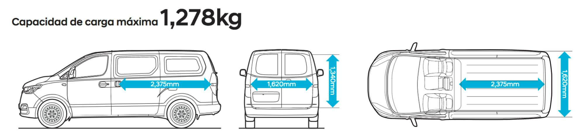 Hyundai Starex Capacidad